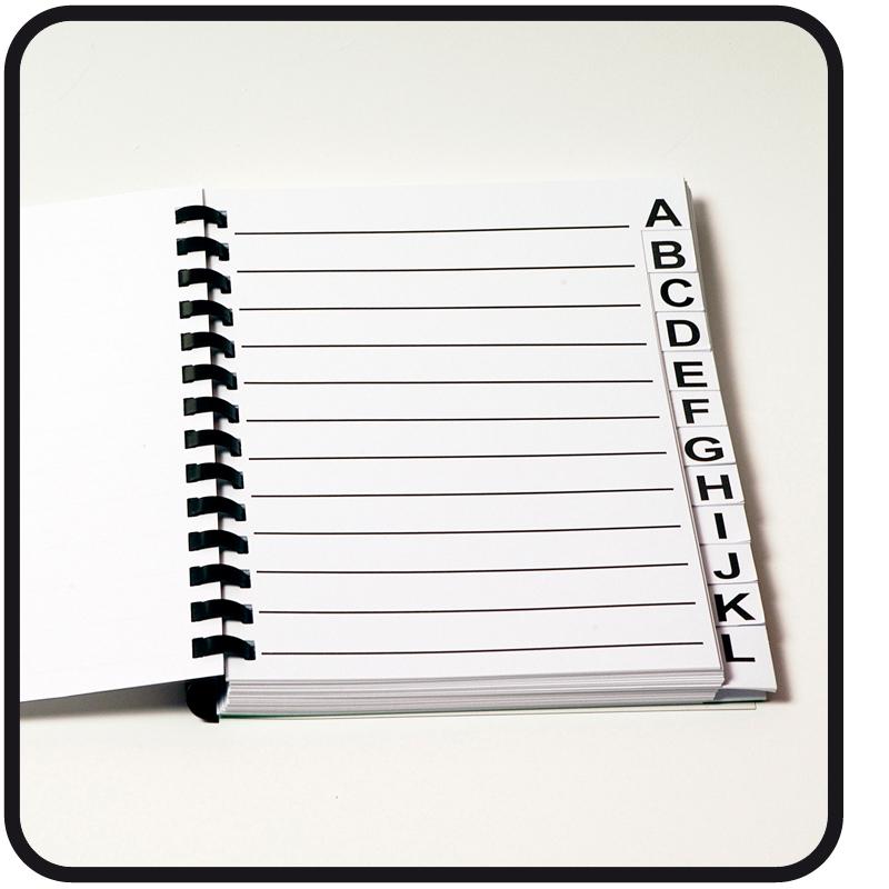 Adressenboek A5 grootletter A00004005