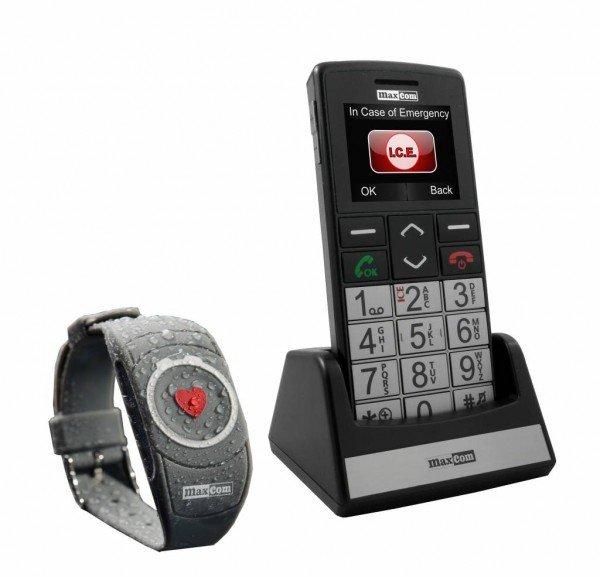 Maxcom seniorengsm met SOS armband MM715BB