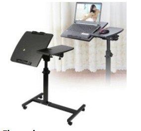 schuin verstelbare tafel voor laptop, tablet enz. verrijdbaar en geheel verstelbaar