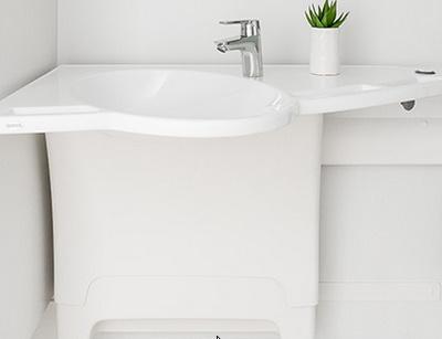Ropox Hoogteverstelbare lavabo met geïntegreerde handvatten Ropox Support