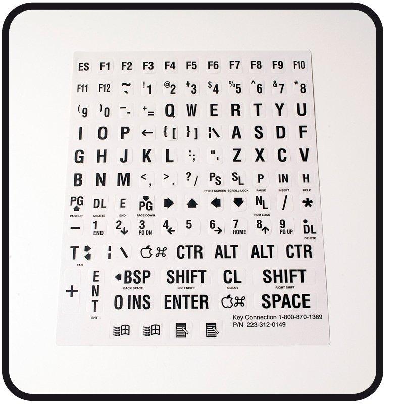 Toetsenbordstickers voor computer of schrijfmachine