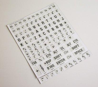 Toetsenbordstickers met braille 249921