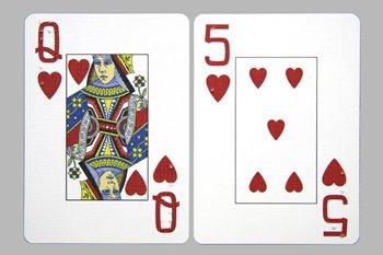 Speelkaarten met Engelse braille-aanduidingen + grote cijfers en letters 750102 / 8191102