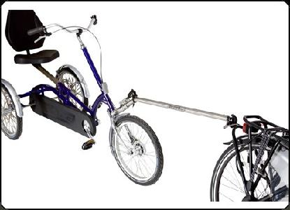 Roam Follow One met zitje 33081 aankoppelstuk hangt fiets achter fiets