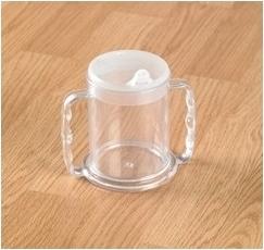 Transparante beker met 2 handvatten / Beker Cinta