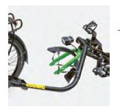 Hase Trets 2020 Trailerfunctie achter fiets