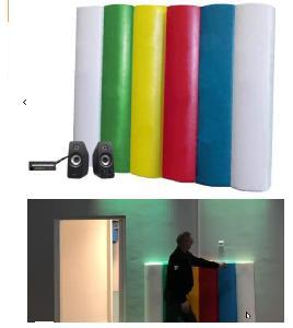 Zacht regenboogpaneel